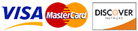 We only accept VISA, Mastercard and Discover